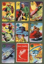 Vintage Cards game Dan Dare Eagle Comic by Pepys